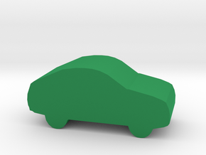 Game Piece, Car in Green Processed Versatile Plastic