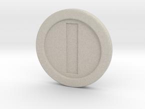 Mario Coin in Natural Sandstone