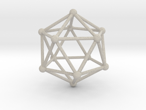 Solid Icosahedron  in Natural Sandstone