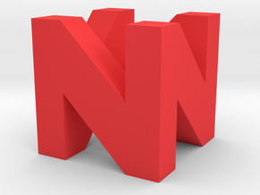 N64 Logo in Red Processed Versatile Plastic