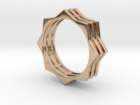 You're A Star Ring in 14k Rose Gold Plated Brass