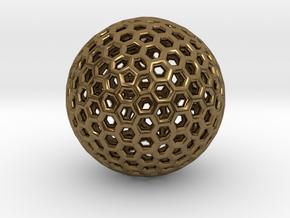 Goldberg pendant or earring, 1.5 cm diameter in Polished Bronze