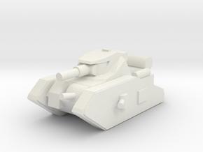 [5] Heavy Tank in White Natural Versatile Plastic