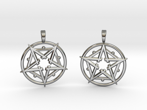 HARMONIC ESSENCE (PAIR) in Fine Detail Polished Silver
