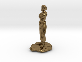 Halfling Rogue with Dual Shortswords in Polished Bronze