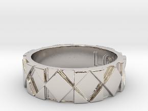 Futuristic Rhombus Ring Size 7 in Platinum