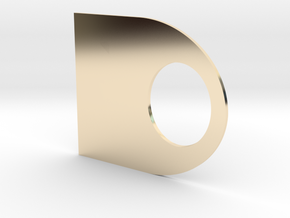 Duct Tape End Finder in 14k Gold Plated Brass