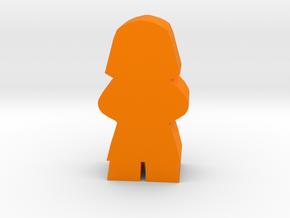 Game Piece, Egyptian Pharaoh in Orange Processed Versatile Plastic