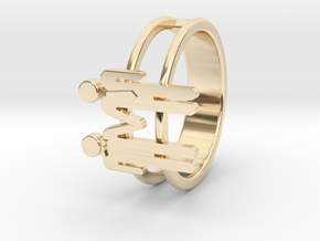 Love Collection Rings - Man and Man Ring in 14K Yellow Gold: 6 / 51.5
