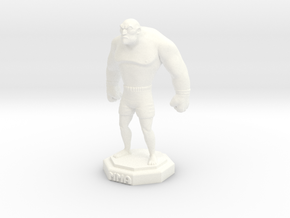MMA Fighter in White Processed Versatile Plastic