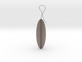 Ethnic earrings in Polished Bronzed Silver Steel