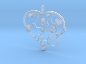 Heart jewellery in Smooth Fine Detail Plastic
