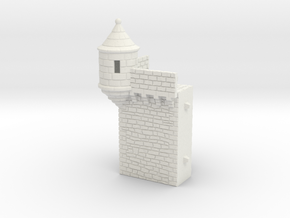 NF4 Modular fortified wall in White Natural Versatile Plastic