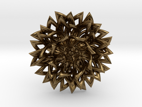 Ring The Chrysanthemum / size 9 1/2 US ( 19,4 mm) in Polished Bronze