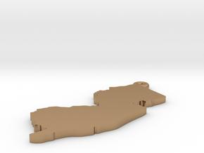 NJ Keychain / Pendant  in Polished Brass