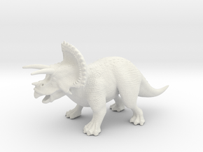 Triceratops in White Natural Versatile Plastic