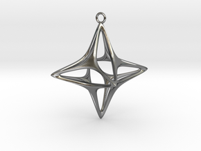 Christmas Star No.1 in Polished Silver