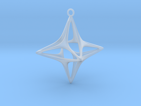 Christmas Star No.1 in Smooth Fine Detail Plastic