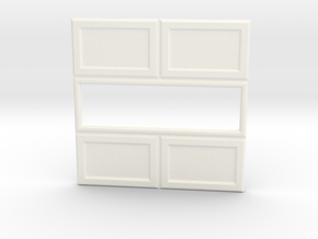 Paneled Wall 003 Passthrough in White Processed Versatile Plastic