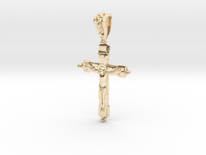 Pendant Cross 2 in 14k Gold Plated