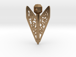 Bagani Artifact Pendant in Natural Brass