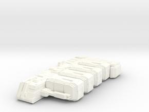 Space Cargo Ship Concept - Messenger in White Processed Versatile Plastic