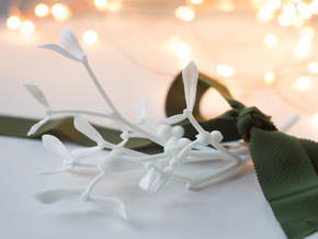 "Mistletoe- 8"" in White Natural Versatile Plastic"