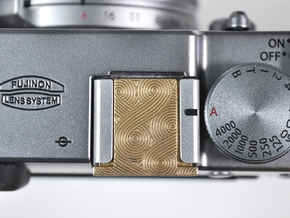 Genghis Pattern - Premium Camera Hot Shoe in Polished Brass