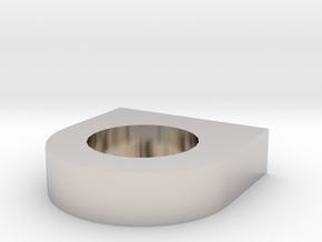 Shield Candleholder in Platinum