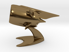 Jet Engine Desk Display in Polished Bronze