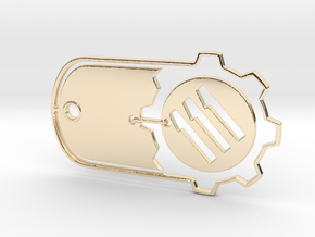 Fallout 4 Vault 111 Dog Tag in 14k Gold Plated Brass