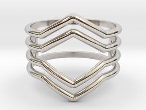 4V ring size K, 50 (small) in Platinum