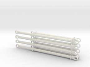 pushrods 13m and 17m  4 piece +4 piece set in White Natural Versatile Plastic