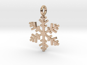 Snowflake Charm 1 in 14k Rose Gold Plated Brass