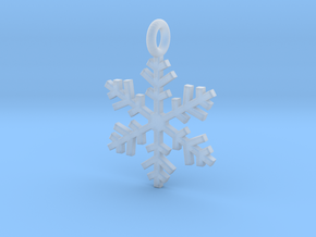 Snowflake Charm 1 in Smooth Fine Detail Plastic