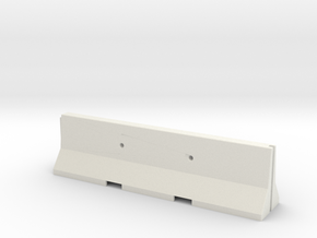 1/35 Jersey Barrier (10 ft/3m) in White Strong & Flexible