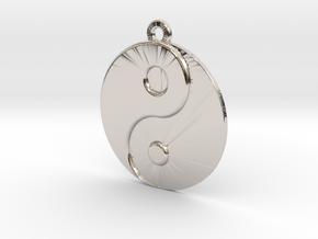 Balance Pendant in Rhodium Plated Brass