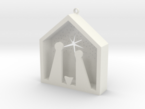 Christmas Crib in White Natural Versatile Plastic