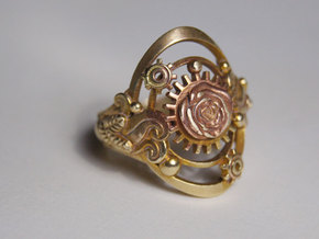Botanika Mechanicum Ring SIZE 11 in Natural Brass