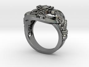 Botanika Mechanicum Ring SIZE 11 in Fine Detail Polished Silver