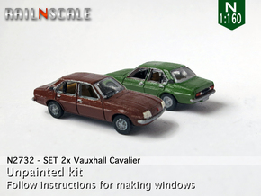 SET 2x Vauxhall Cavalier (N 1:160) in Frosted Ultra Detail