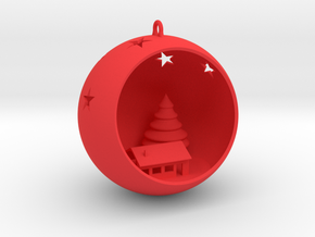 Christmas Bauble 4 in Red Strong & Flexible Polished