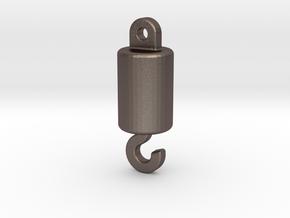 1/50 Crane Lifting Hook (aka Headache Ball) in Polished Bronzed Silver Steel