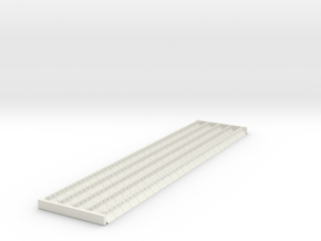 4mm scale Ridge Tiles 45 degree in White Natural Versatile Plastic