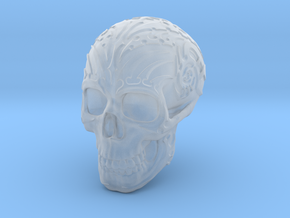 Skull mechanical in Smooth Fine Detail Plastic