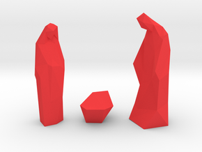 Contemporary Christmas statues in Red Processed Versatile Plastic