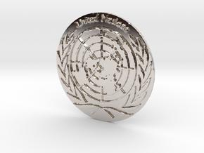 United Nations Logo Precious Metal Coin in Platinum