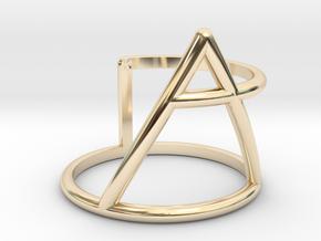 Xplore glyph ring size:small/medium in 14K Yellow Gold