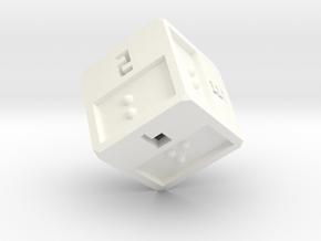 Braille D6 in White Processed Versatile Plastic