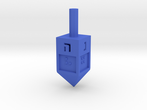 Braille Dreidel in Blue Strong & Flexible Polished